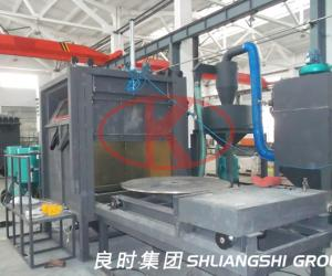 Aluminium wheel environmental sandblasting machine for the customer